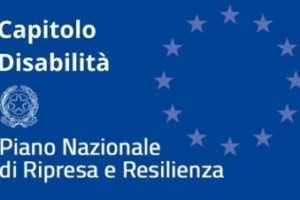 Un'elaborazione grafica dedicata al capitolo sulla disabilità del Piano Nazionale di Ripresa e Resilienza