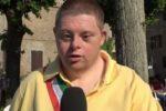 """Davide Antonelli, """"sindaco sul campo"""", intervistato da un'emittente locale"""