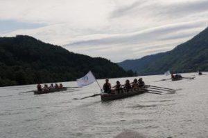Un'immagine della regata dello scorso anno sul Danubio