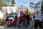 Una manifestazione di qualche tempo fa promossa dalle donne con disabilità afghane, in difesa dei loro diritti. E ora cosa succederà? (© Ashfaq Yusufzai/IPS)