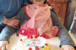 La signora Rita nel giorno del suo compleanno