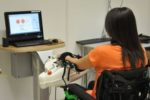 Seduta di riabilitazione robotica